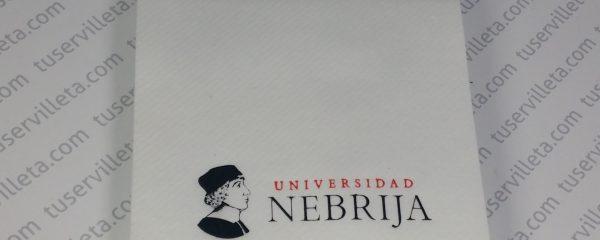 Servilletas Impresas Universidad Nebrija