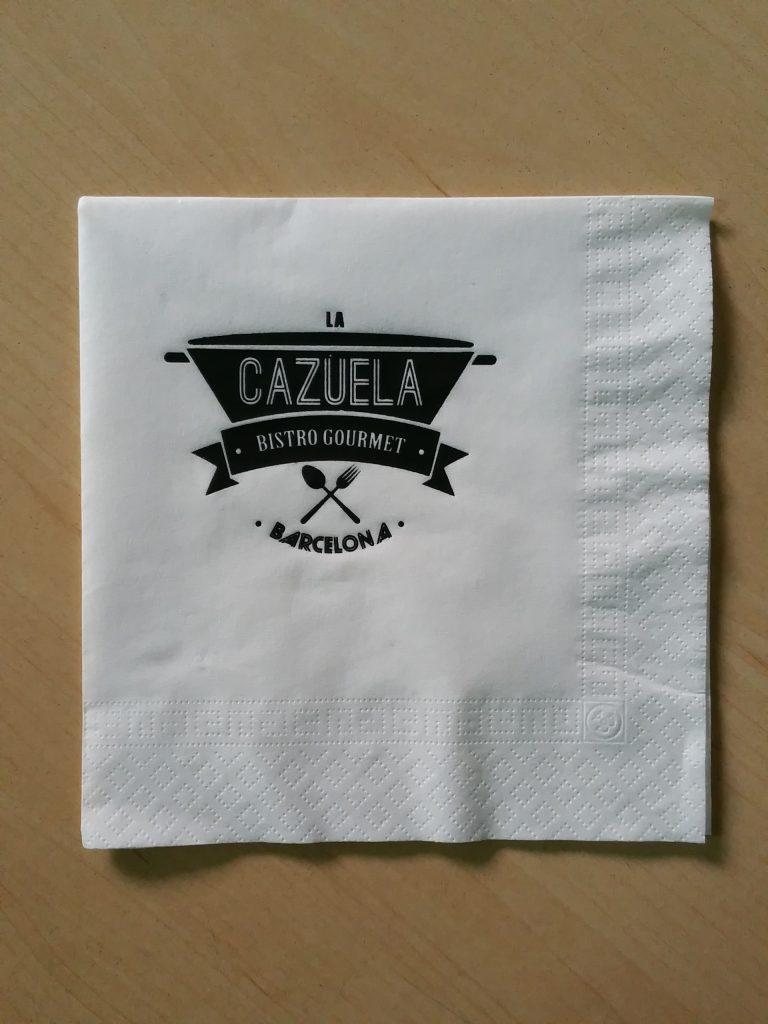 Servilleta personalizada la cazuela servilletas personalizadas - Servilletas personalizadas ...