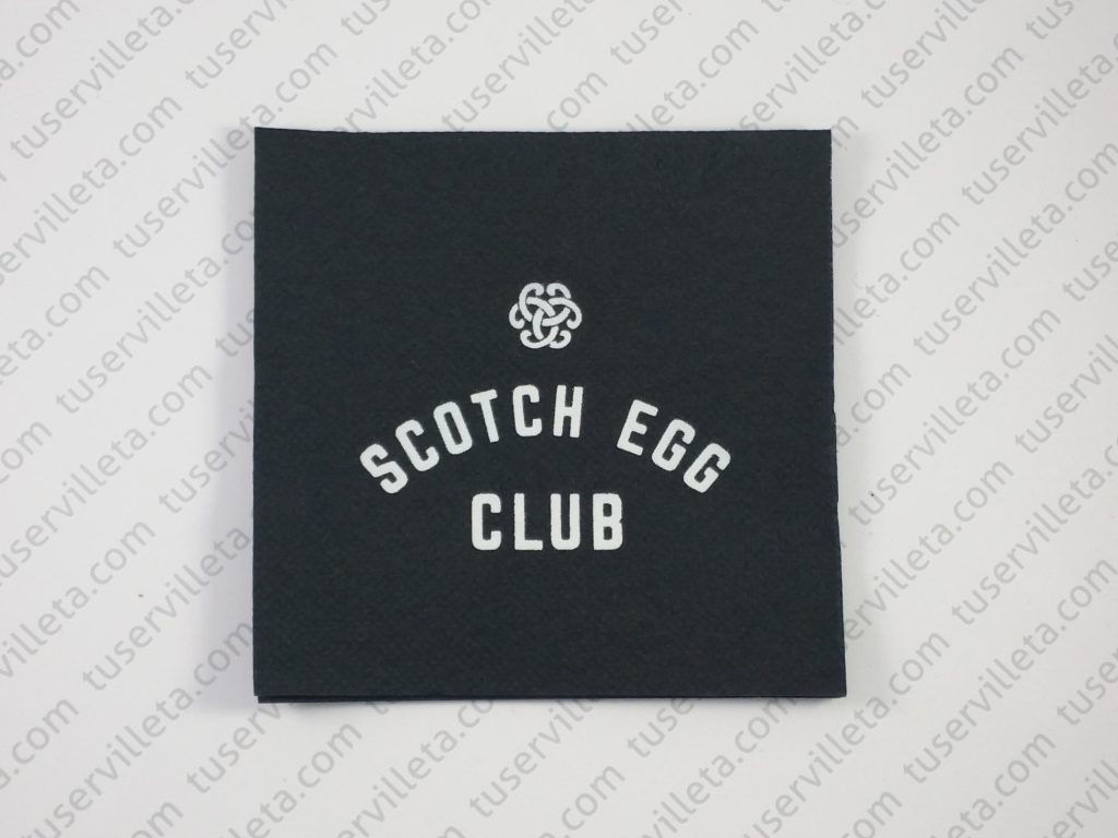 Servilletas Impresas Scotch Egg Club