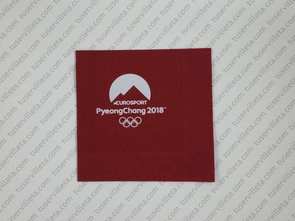 Servilletas Impresas Eurosport PyeongChang 2018