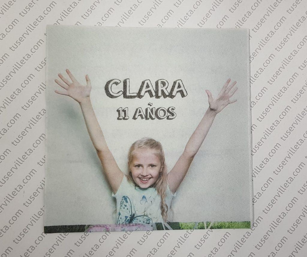 Servilletas Personalizadas Clara 11 años