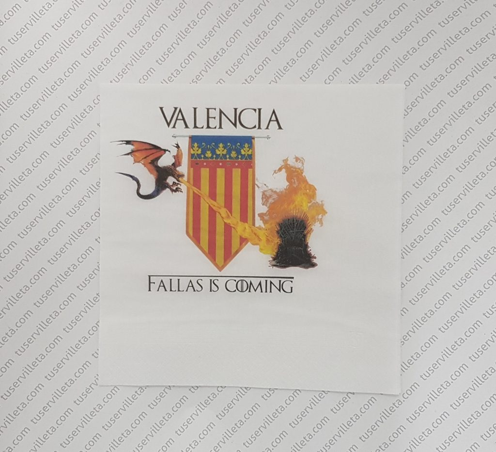 Servilletas Impresas Valencia Fallas is Coming
