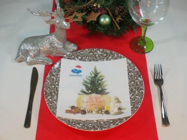 Servilletas Impresas Feliz Navidad
